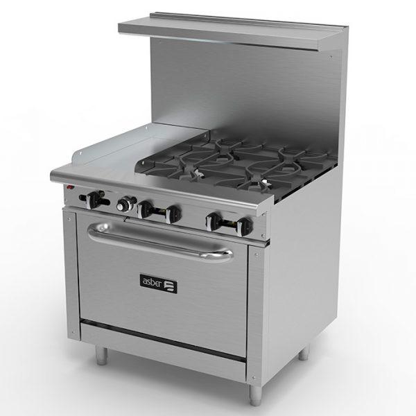 Cocina con horno y plancha a gas asber ibea s a - Plancha para cocina de gas ...